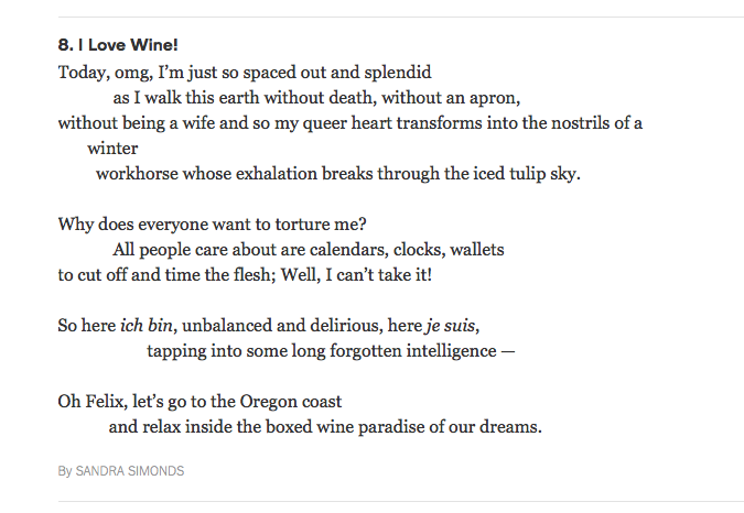 Poem in the New York Times